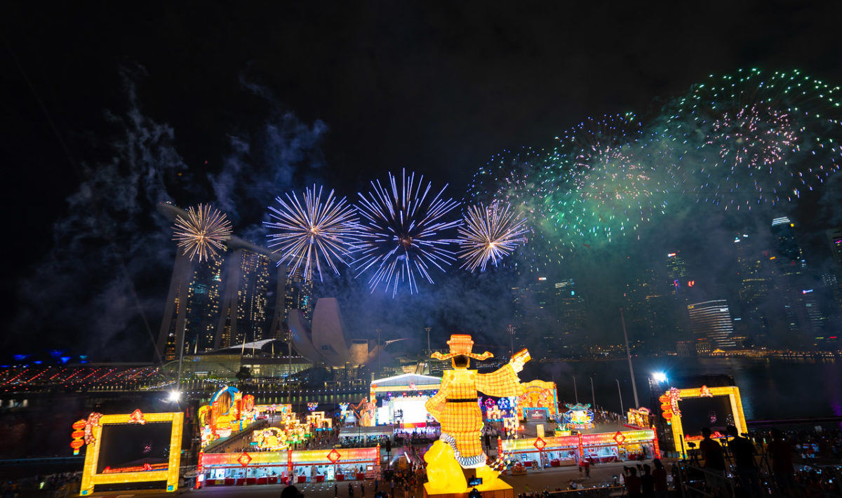 Chinese New Year Fireworks at River Hongbao 2020, The Float @ Marina Bay