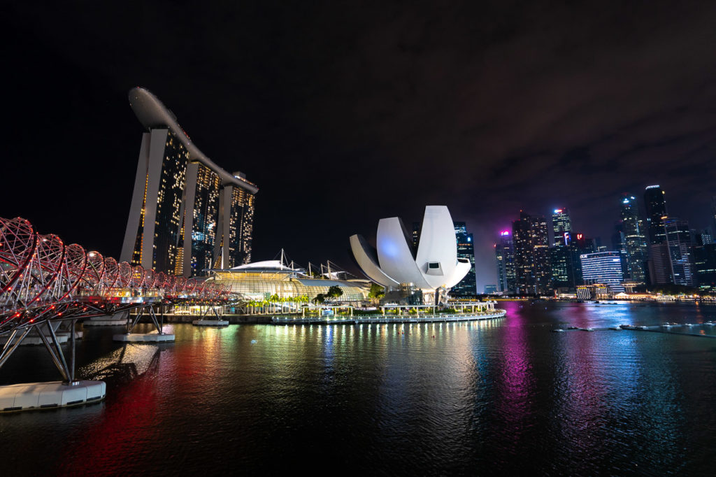 Helix Bridge, Marina Bay Sands, ArtScience Museum & Central Business District
