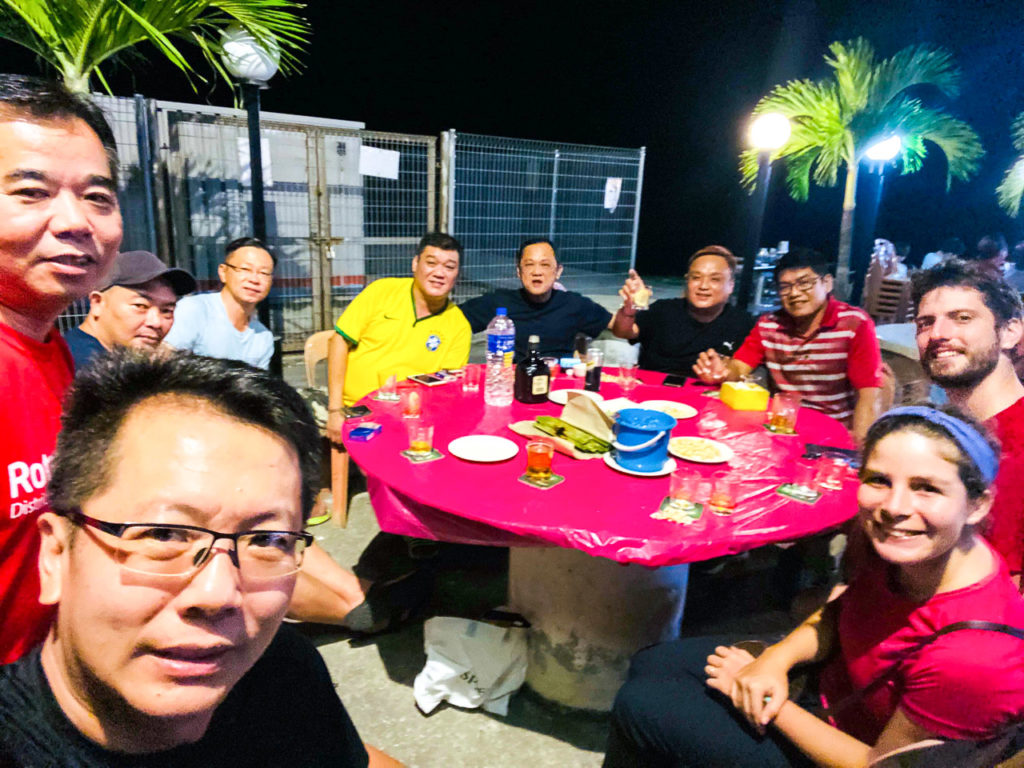 Dinner with PCC Pontian Cycling Club at Hai Zu Seafood, Pontian