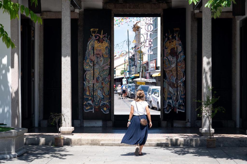 Johanna at Han Jiang Ancestral Temple, George Town, Penang