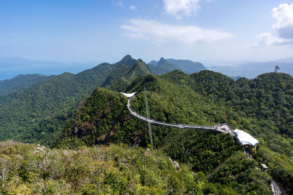 Langkawi Sky Bridge seen from Gunung Mat Chinchang