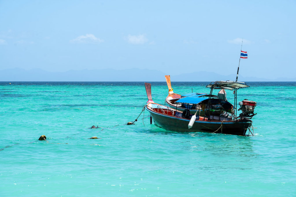 Long-tail boats at Sunrise Beach, Koh Lipe