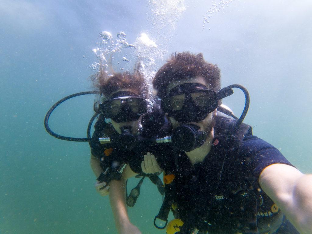 Johanna & Armand diving at Ko Yang East