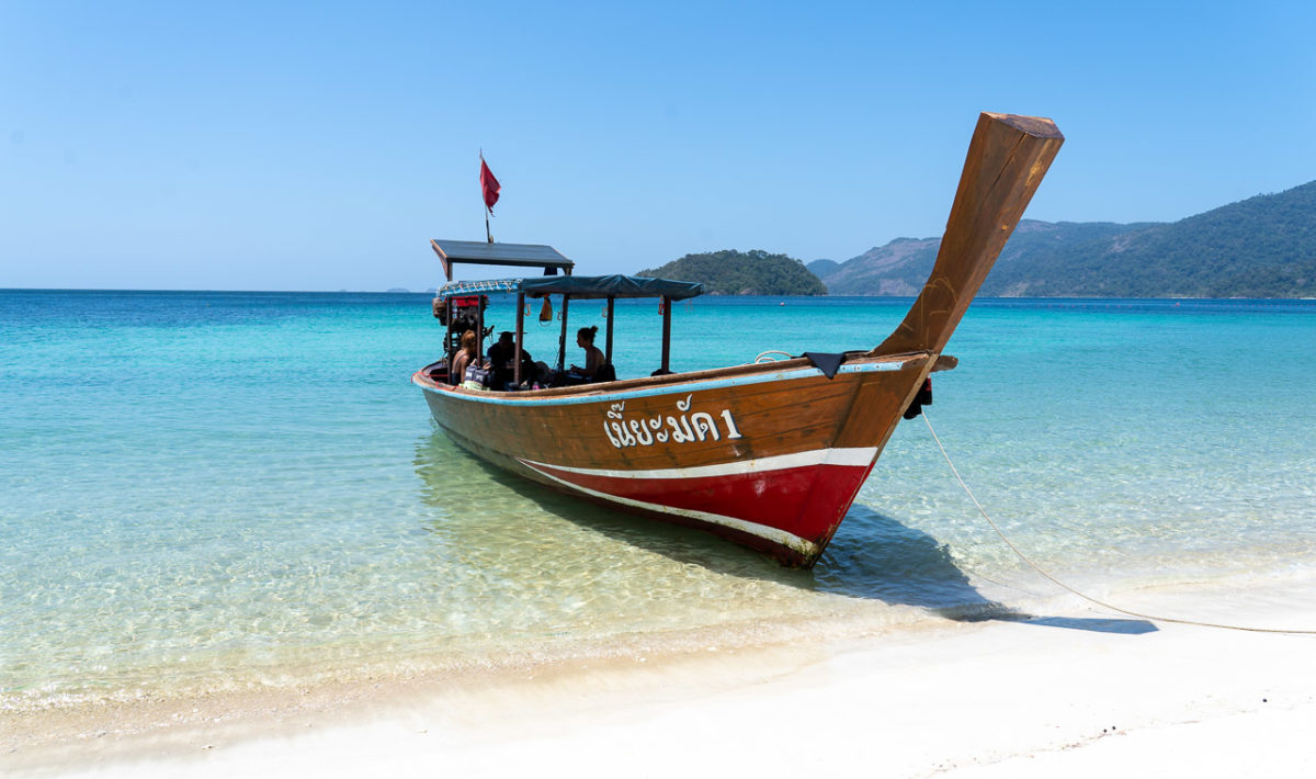 Long-tail dive boat, Koh Adang