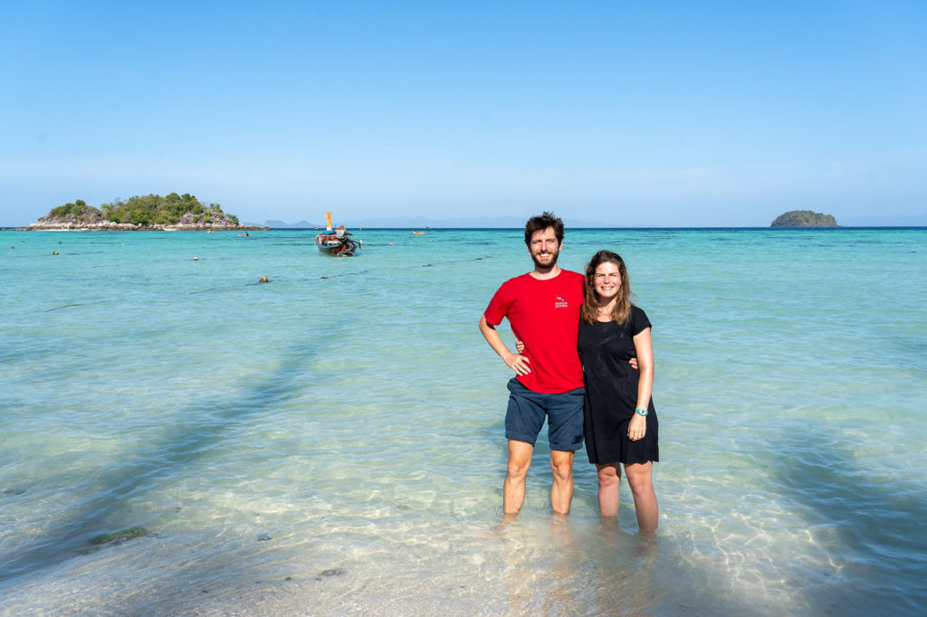 Armand & Johanna at Sunrise Beach, Koh Lipe