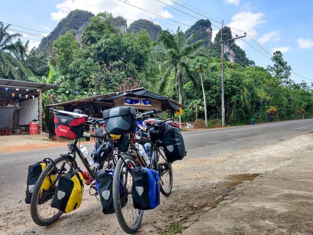 Bicycles in Ao Luek Noi