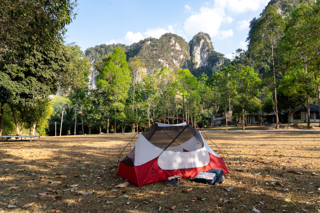 Camping in Khlong Phanom National Park