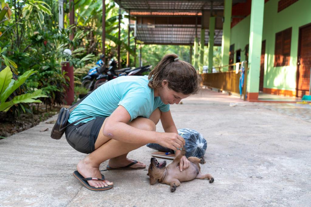 Johanna and a puppy