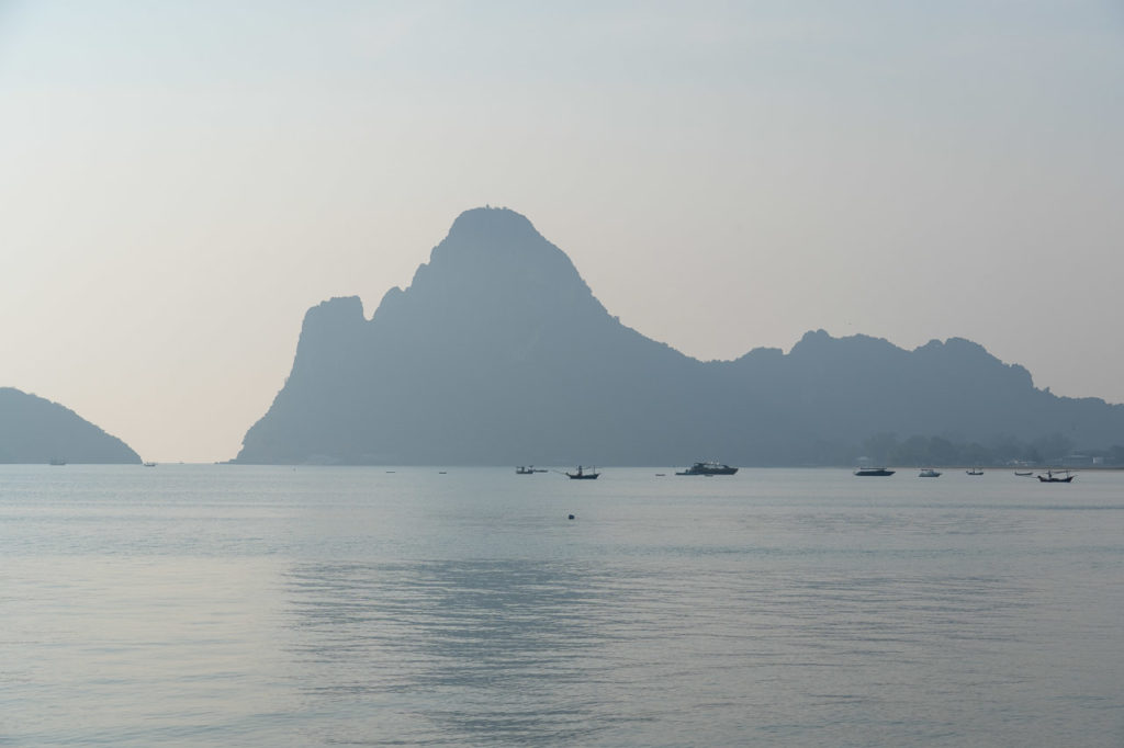 Khao Lom Muak seen from Prachuap Khiri Khan