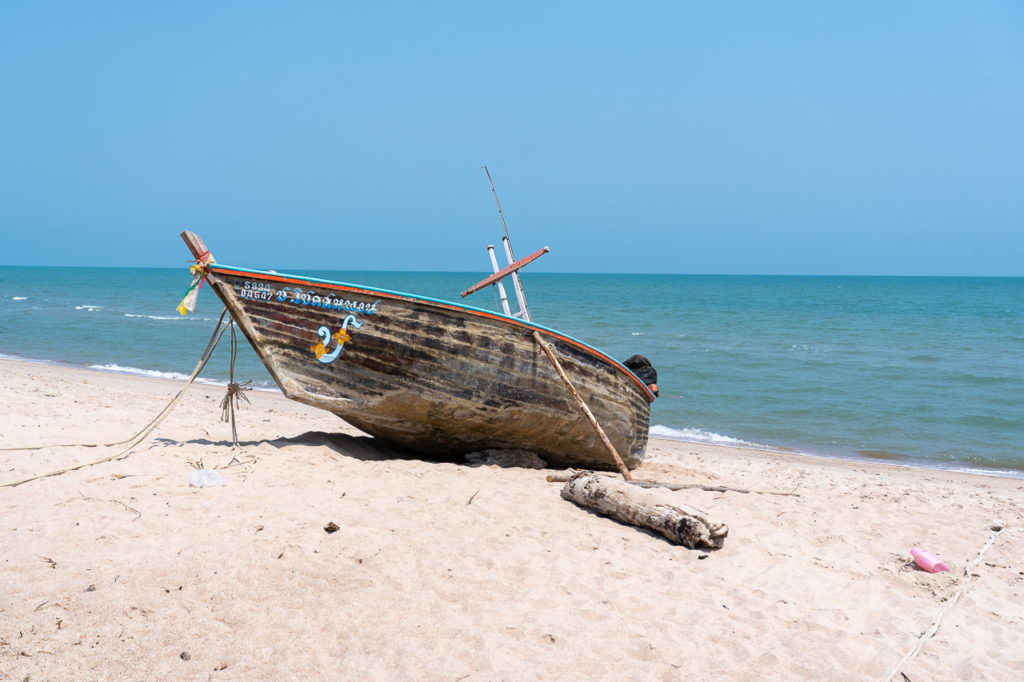 Boat at Cha-am Beach