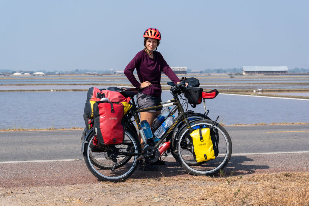 Johanna at Laem Phak Bia salt pans