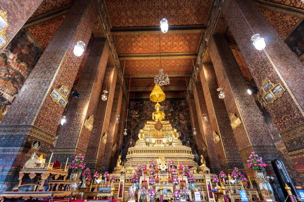 Seated Buddha image, Phra Ubosot, Wat Pho, Bangkok