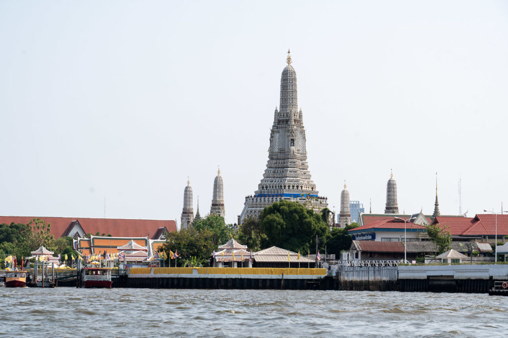 Wat Arun seen from Chao Phraya Express Boat, Bangkok