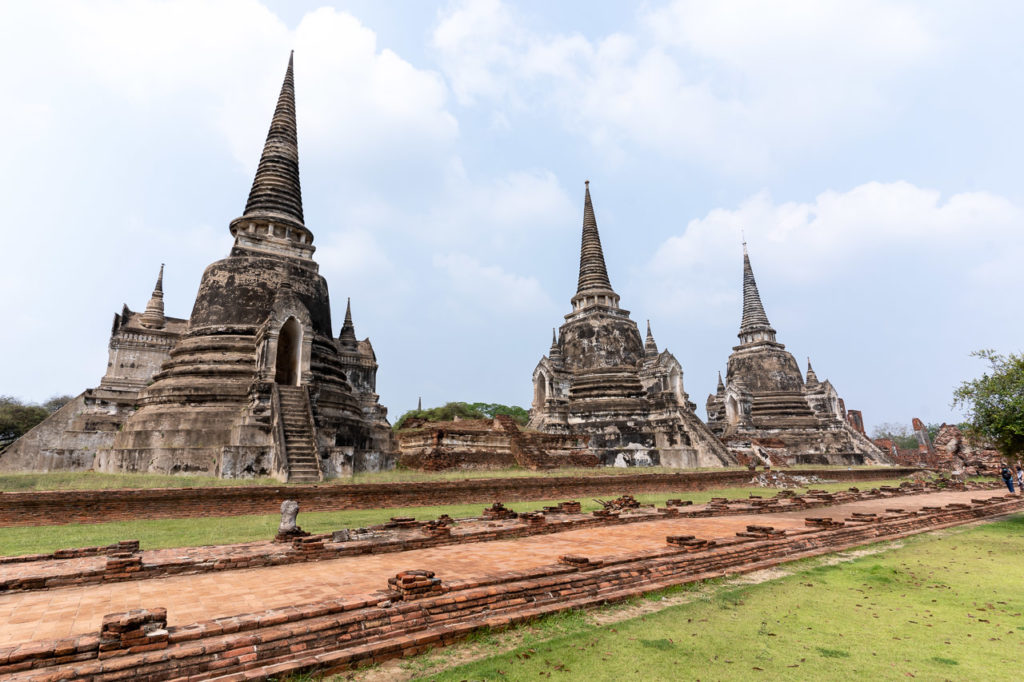 The three Chedis of Wat Phra Si Sanphet, Ayutthaya Historical Park