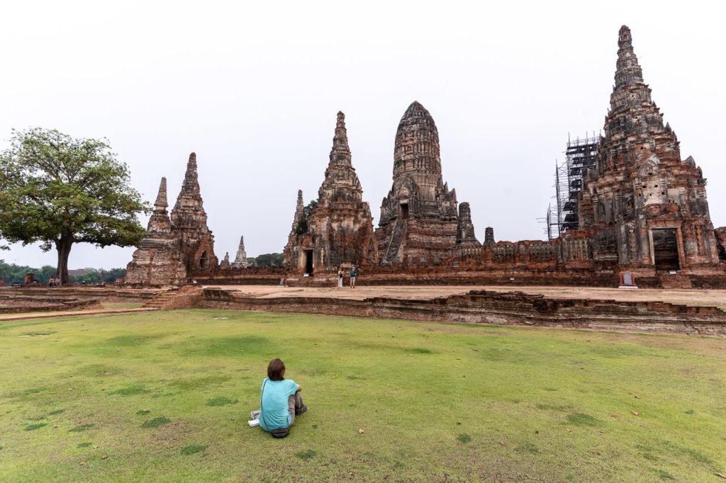 Johanna at Wat Chaiwatthanaram, Ayutthaya Historical Park