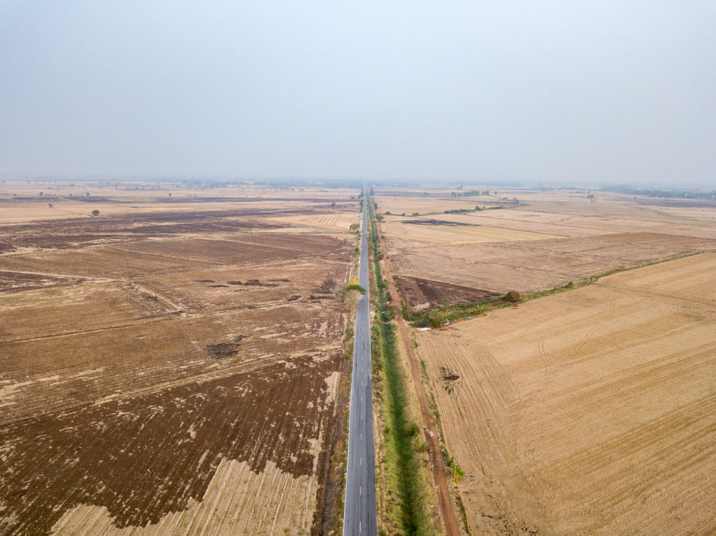 Farmland road nearby Phai Yai