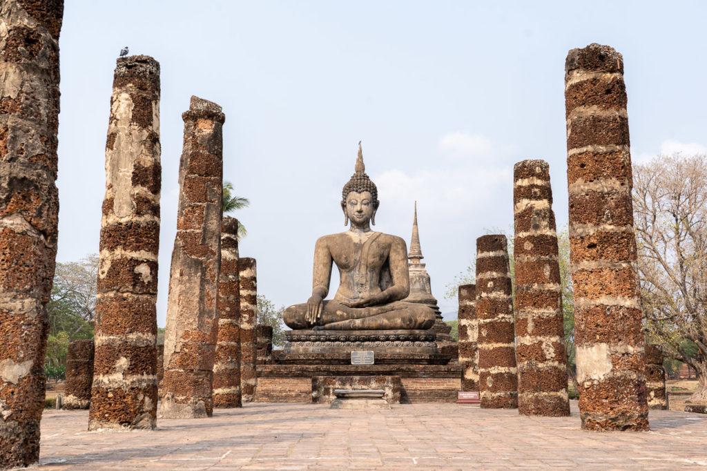 Seated Buddha image, Wat Mahathat, Sukhothai Historical Park