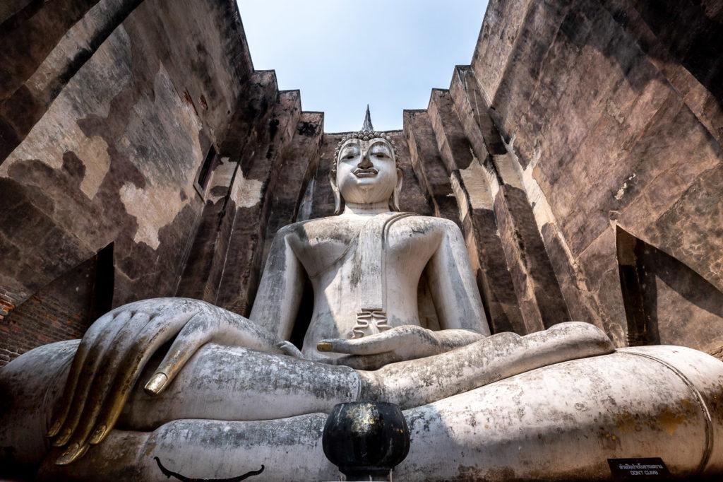 Phra Achana seated Buddha image, Wat Si Chum, Sukhothai Historical Park
