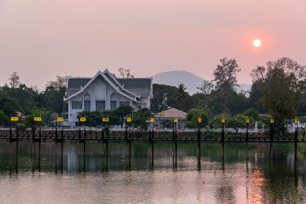 Sunset over Ramkhamhaeng National Museum, Sukhothai Historical Park