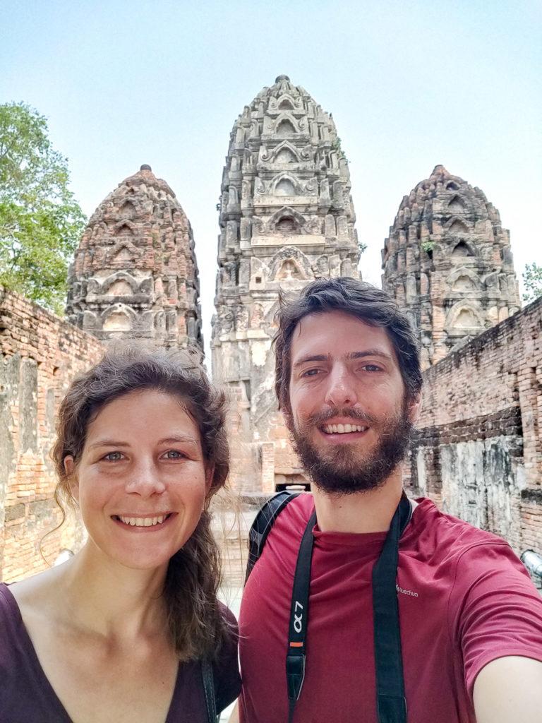 Johanna & Armand at Wat Si Sawai, Sukhothai Historical Park