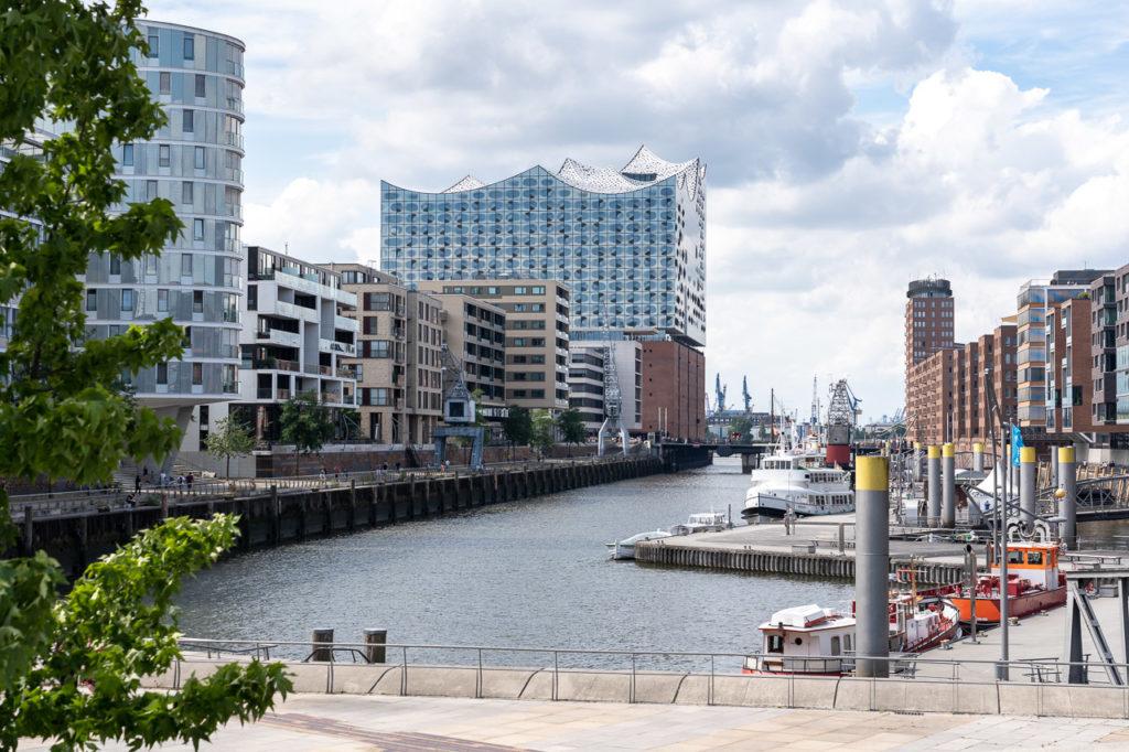 Elbphilharmonie seen from Magellan-Terrassen, Hamburg
