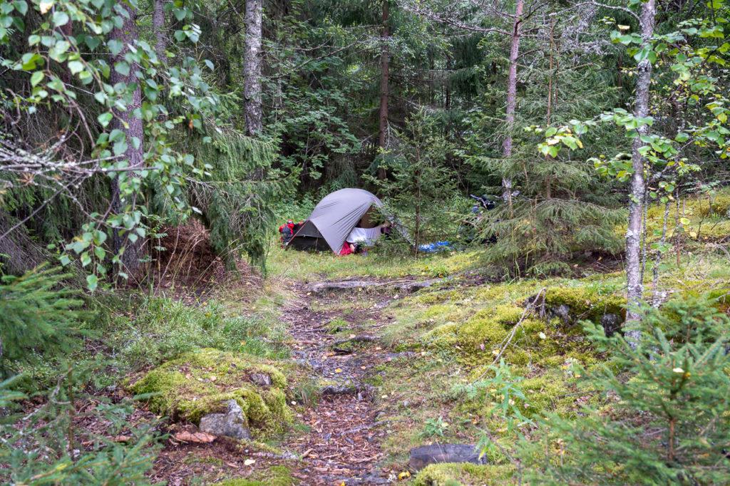 Wild camping nearby Heieren, Hønefoss