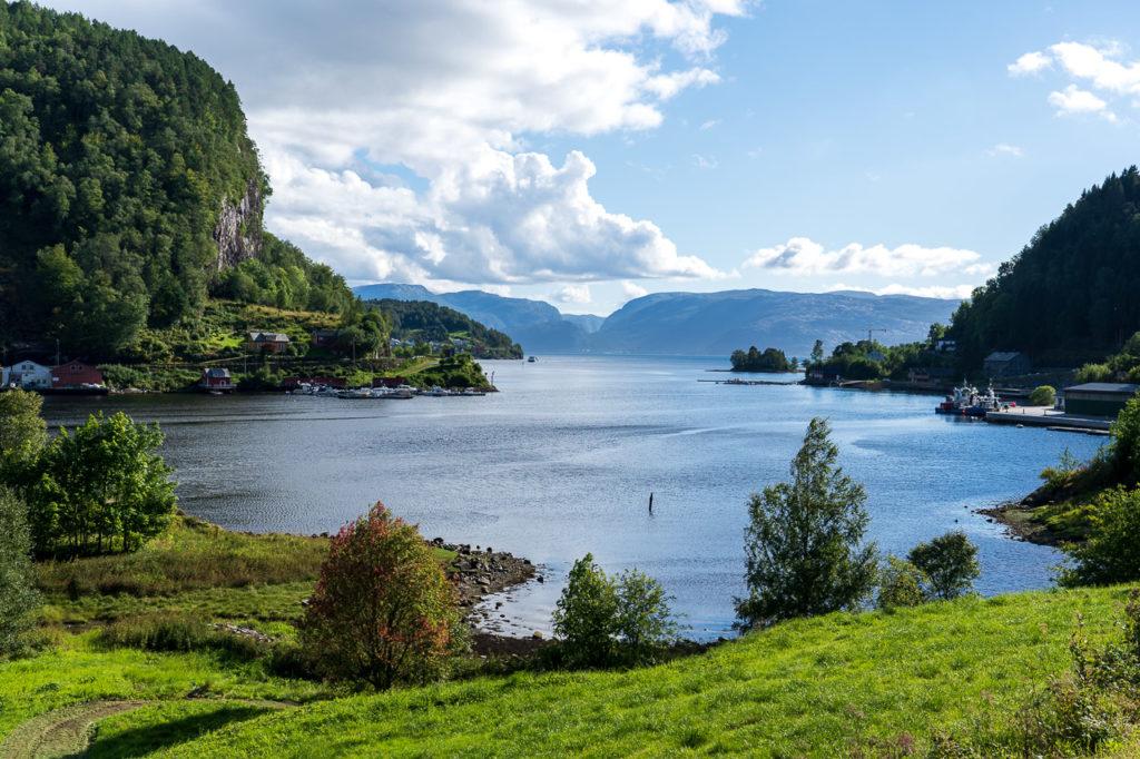 Bøfjorden arm of Sognefjorden in Leirvik