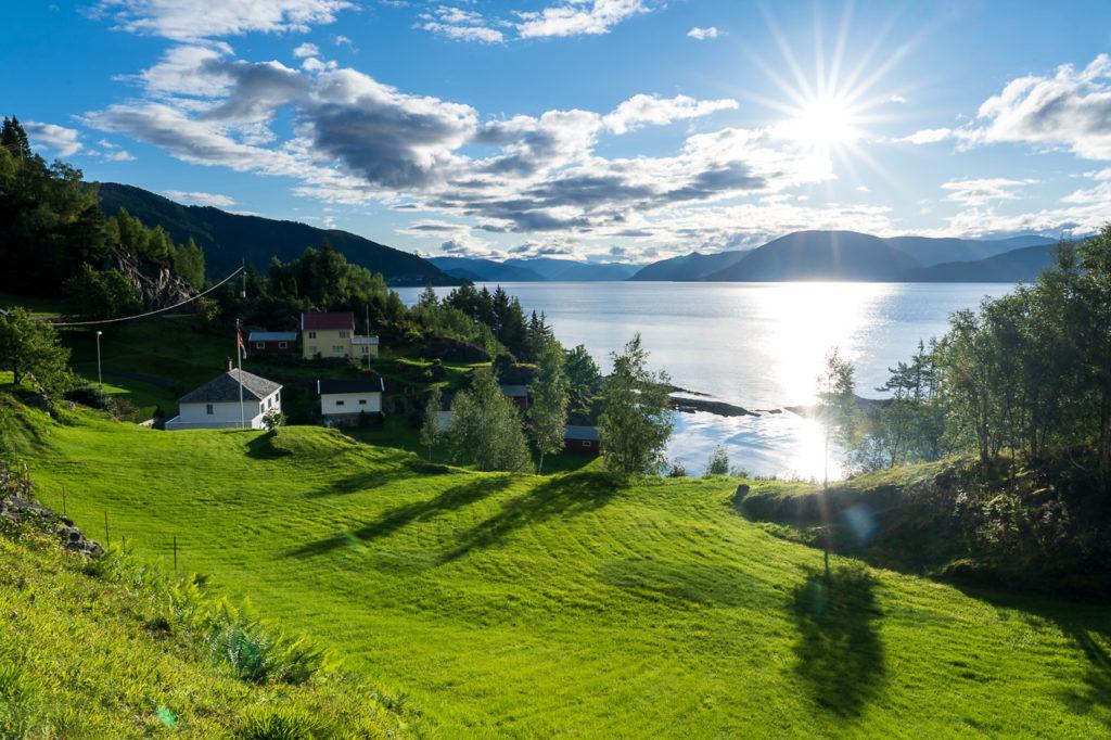 Sognefjorden nearby Lavik