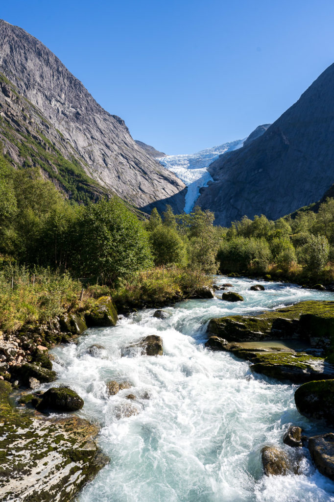 Briksdalselva & Briksdalsbreen in the background
