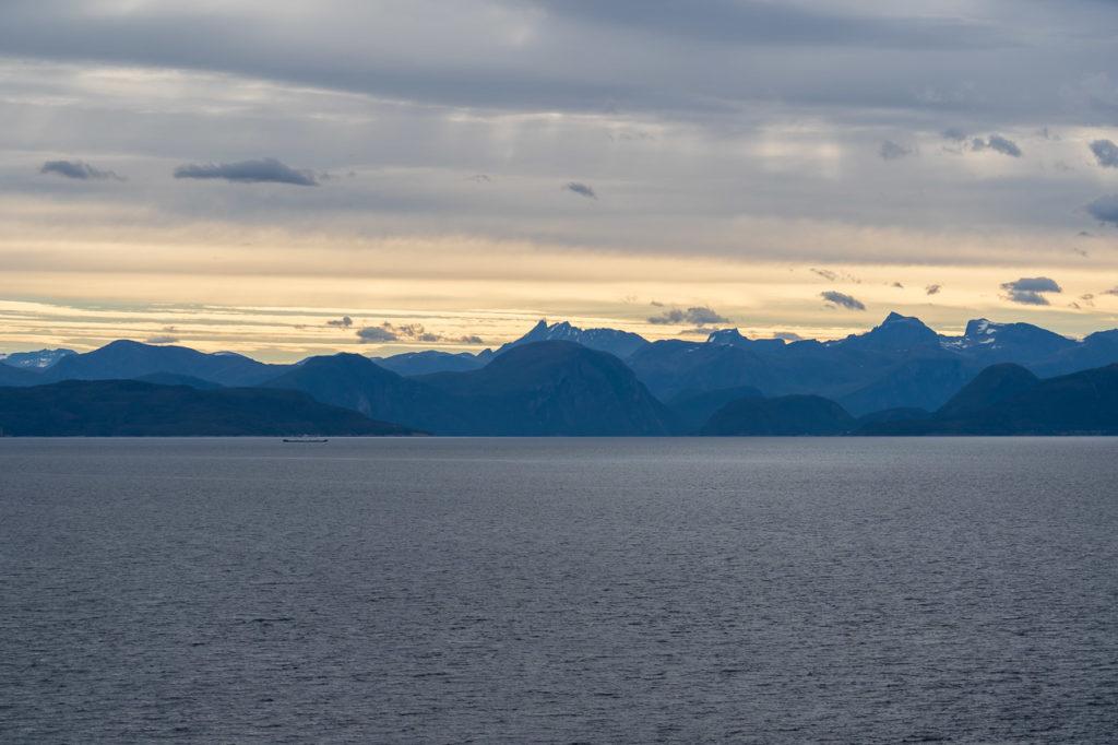 Storfjorden arm of Romsdalsfjorden seen from Otrøya island nearby Solholmen