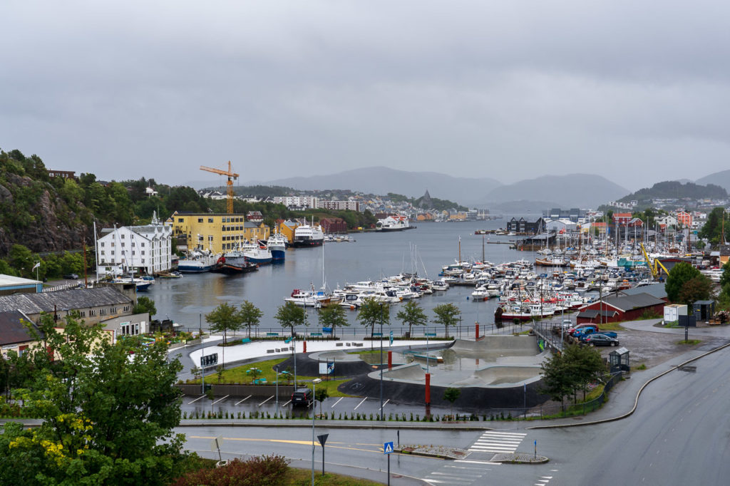 Kristiansund seen from the viaduct on Wilhelm Dalls vei