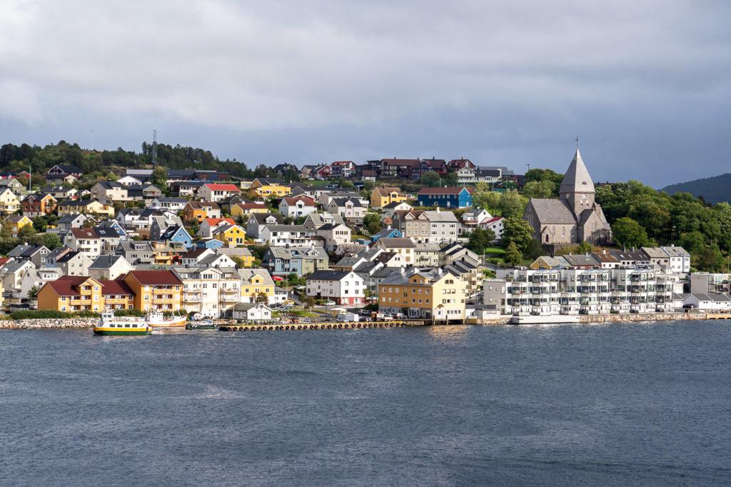 Nordlandet island seen from Kirkelandet island, Kristiansund
