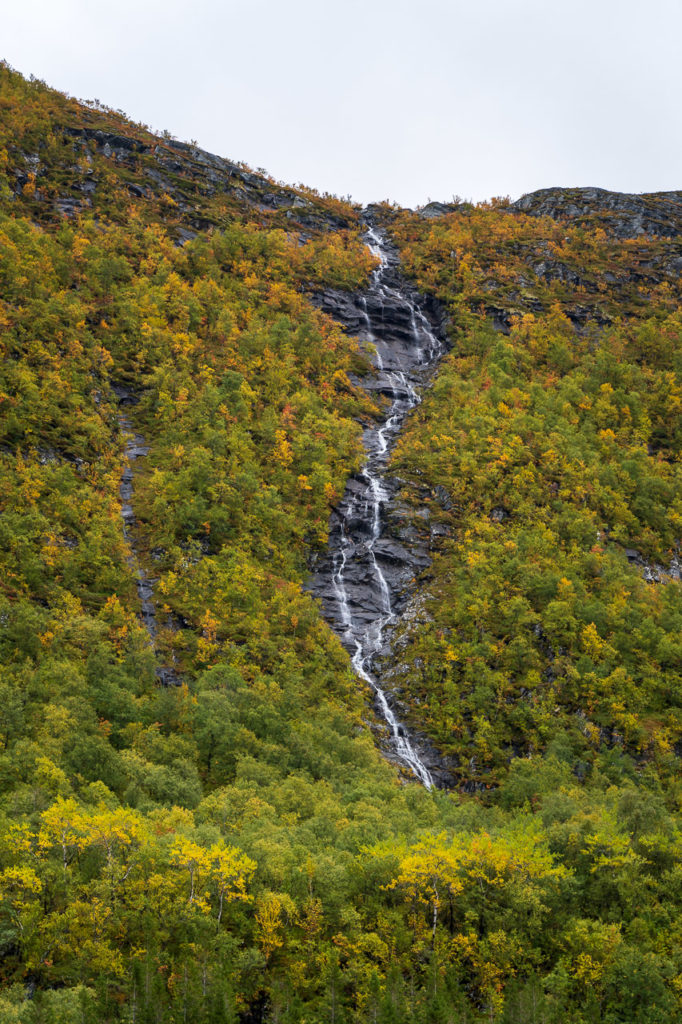 Waterfall nearby Skomo, Brønnøysund