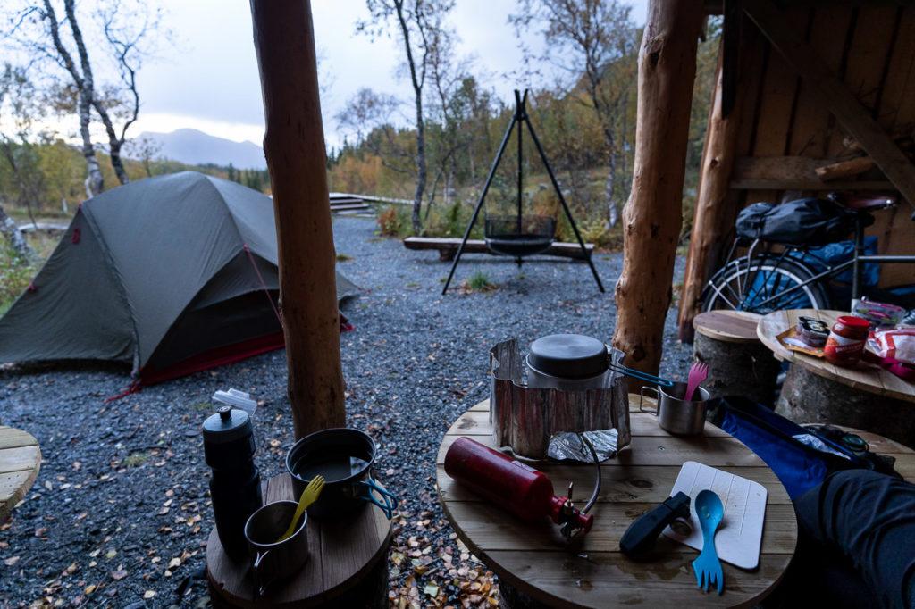 Wild camping at Bjørndalskleiva, Nygårdsjøen