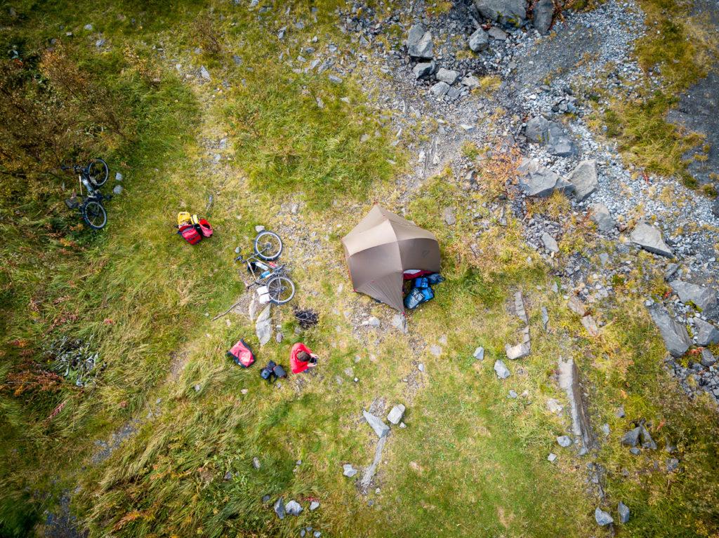 Wild camping nearby Reine