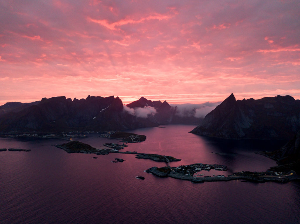 Sunset over Reine