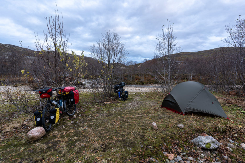 Wild camping along the Svanelva