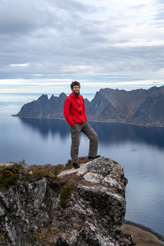 Armand at Husfjellet and Okshornan & Ersfjorden in the background