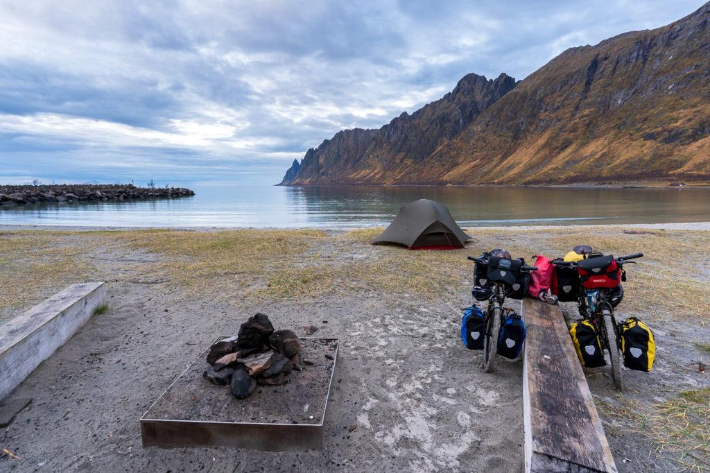 Camping on Ersfjordstranda
