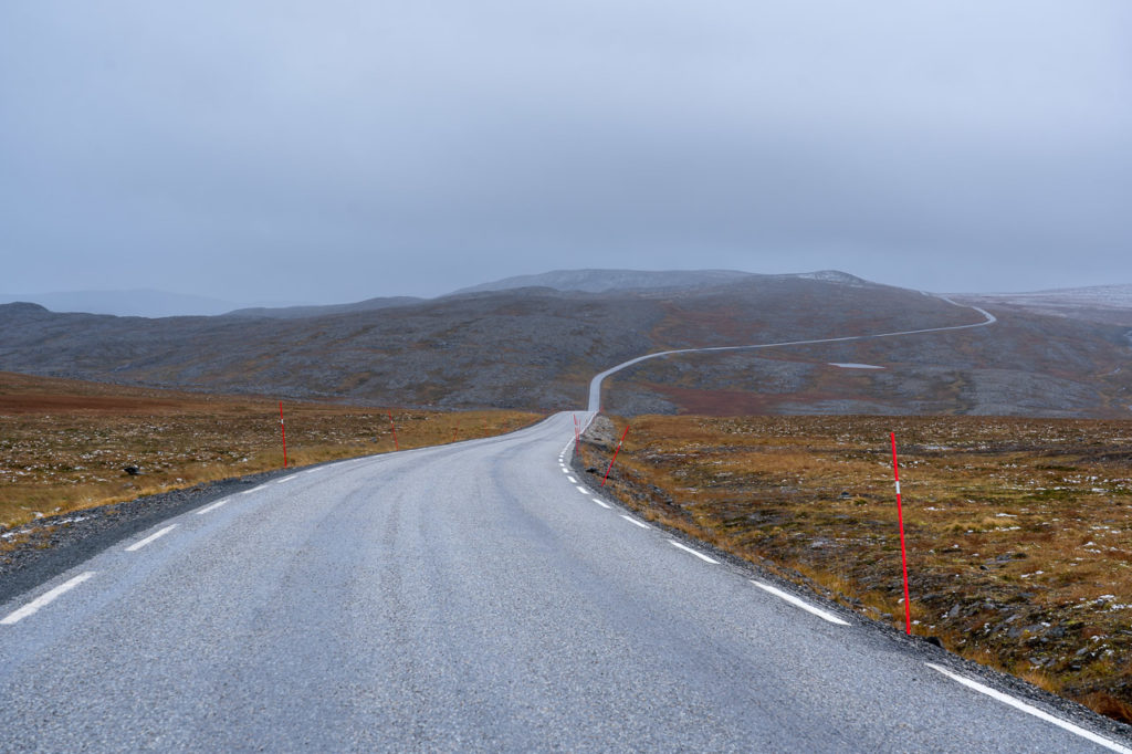 European route E69 nearby Nordkapp