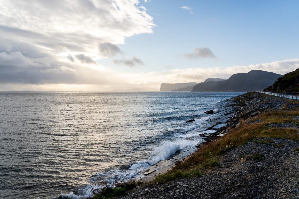 Porsangerfjorden nearby Ytre Sortvik